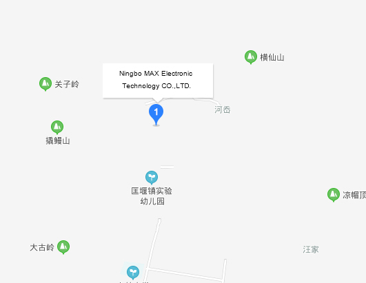 Address and map of Ningbo Max Electronic Technology Co., Ltd